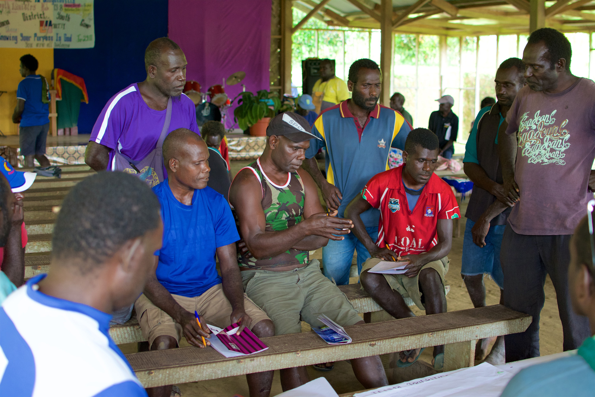 Community dialogues facilitated by local Bougainvillean facilitators